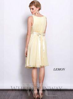 Shellie Chiffon Cocktail Dress - White Runway