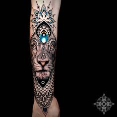Do you like this tattoo? Forearm Cover Up Tattoos, Lion Forearm Tattoos, Bull Tattoos, Head Tattoos, Body Art Tattoos, Gem Tattoo, Jewel Tattoo, Tattoo Ink, Tattoo Designs And Meanings