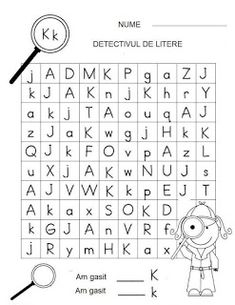 Letter Detectives Worksheets Aa to Zz Games For Kids, Diy For Kids, Activities For Kids, Letter Worksheets, Kindergarten Worksheets, Preschool At Home, Kids Education, Kids Learning, Detective