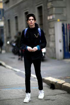 Male Models Off Duty: Milan Men's Fashion Week 2014 - theFashionSpot