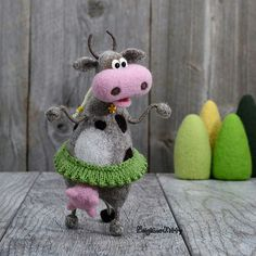 Needle felted and knitted crafts by NeighborKitty on Etsy