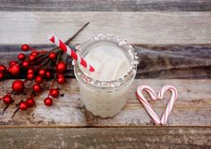 holiday cocktail - white peppermint russian