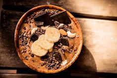 Chocolate Nice Cream made by Tana Hendrikse for Nice Cream, Taste Buds, Superfoods, Chocolate Recipes, Acai Bowl, Vegan, Breakfast, Desserts, Acai Berry Bowl