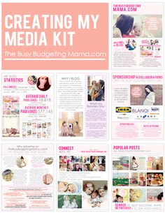 The Busy Budgeting Mama: Creating My Media Kit -  Ideas for yours and what I included