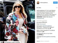 Steffano Gabbana on Instagram Thanked her for wearing the brand floral coat.