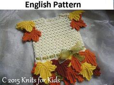 Englisch Crochet Anleitung Baby Kleid Maple von ElodyKnitsforKids