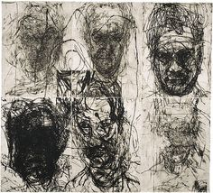 Mike Parr - do timed frontal portrait gestures in various media, reference Giacometti Kunst Inspo, Art Inspo, Art And Illustration, Figure Drawing, Painting & Drawing, Alberto Giacometti, A Level Art, Arte Popular, Gravure