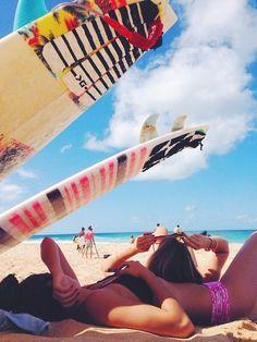 Surf-Surfboard-Sun-Sunbathing-Girls-Beach-Sea-Ocean-Girls-Summer-Shiwi