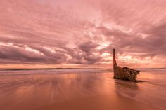 The amazing Dicky Beach on the Sunshine Coast, Australia. Truly an amazing place to watch a sunrise!