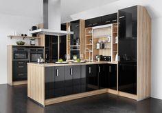 black kitchen cabinets black kitchens flooring forward black kitchen ...