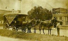 Transporte de la Cerveza Polar, año 1915,Habana.