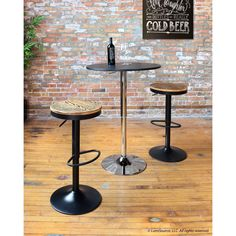 Add style to your kitchen or bar area with the Dakota Rustic Bar Stool. This bar stool showcases a 360-degree swivel with height adjustable function, as well as a footrest for comfort.