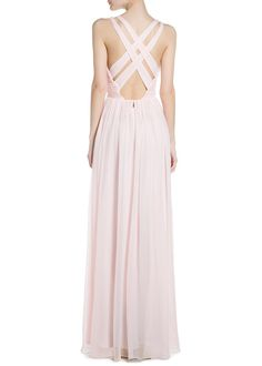 Silk gown dress back