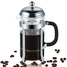 French Press Coolife Coffee Maker Tea Espresso Maker 8 Cup 1 liter 32 oz with Stainless Steel and Heat Resistant Glass Bundle Silver -- For more information, visit image link.Note:It is affiliate link to Amazon.