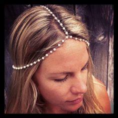 Pearl Bridal Head Chain  Headchain wedding by Callefemme on Etsy, $18.00