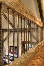 Rebar stair railings interior - vertical www.sunvalleymag.com