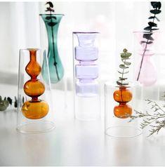 Cheap Vases, Boho Throw Pillows, Decoration Christmas, Double Glass, Indoor Flowers, Small Bouquet, Chandelier, Unique Home Decor, Transparent