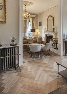 Intricately patterned wood floors are now very much on trend, and Design collates all the Havwoods' blocks which are perfect for the job Flooring Ideas, Wood Flooring, Hardwood Floors, Interior Ideas, Interior Design, Living Room Decor Cozy, Hallway Designs, Attic Apartment, Victorian House