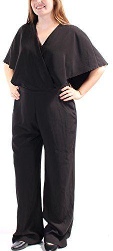 16cebfb762b5a Alfani 129 Womens New 1030 Black Faux Wrap Wide Leg Jumpsuit 12 B+B