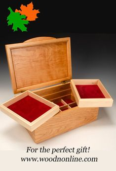 A unique jewelry box built with outstanding craftsmanship and premium materials. Both functional and a piece of art, the jewelry box will provide a lifetime of use and pleasure. Jewelry Box, Jewelry Making, Unique Jewelry, 5th Wedding Anniversary, Box Building, Custom Made Furniture, Aesthetic Design, Wood Boxes, Wood Art