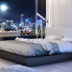 What a view to wake up to. For more: life1nmotion.tumblr.com #interiors #design