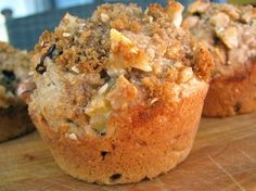 crunchy topped apple oat bran muffins #recipes, #cleaneating