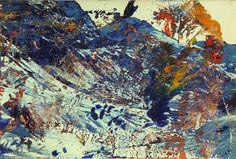 Gerhard Richter (German, b. 1932), Sils Maria, 1987. Oil on chromogenic print, in artist's frame, 10.2 x 14.9cm.