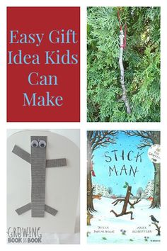 Virtual Book Club for Kids: Easy gift making ideas for kids based on books for kids including a Stick Man ornament and gift card. A great gift for young family and friends. from Growing Book by Book Christmas Activities For Kids, Christmas Ideas, Christmas Tree, Literacy And Numeracy, Literacy Activities, Book Crafts, Kids Crafts, Axel Scheffler, Fall Themes