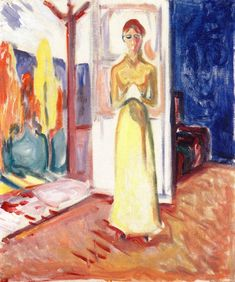 The Athenaeum - Woman Standing in the Doorway (Edvard Munch - ) 1906