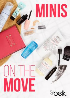No need for your favorite beauty must-haves to take up all the room in your suitcase: they're available in travel sizes, from skincare to makeup and fragrance. So pack them in your carry-on – these minis are small enough to clear security – and look great on the go, no matter where you're headed this season. Shop travel-sized beauty in stores or at belk.com.