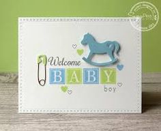Image result for rocking horse baby card
