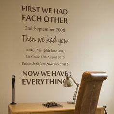 personalised we had each other wall sticker by nutmeg | notonthehighstreet.com