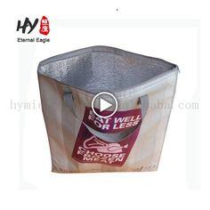 Custom Plush thermal wine bag, insulation bag, outdoor fitness cooler bag
