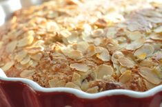 Rabarberkage med marcipan og kokos - nem