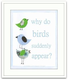 Modern Art Print, Why Do Birds Suddenly Appear?  11 x 14 by Beek Design. #Andable | When you buy, we share -