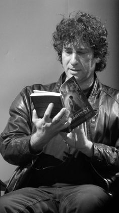 Neil Gaiman reads - English author of short fiction, novels, comic books, graphic novels, audio theatre and films