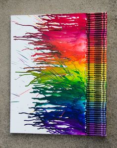 Custom Made Crayola Crayon Art on Canvas, $35.00. Contact me for information on custom colours, sizes, and stencils available.