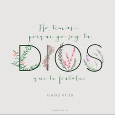 Confía que Dios. Do not fear for I am with u. Christian Life, Christian Quotes, Bible Quotes, Bible Verses, Scripture Study, Faith In Love, God Loves You, Mo S, Quotes About God