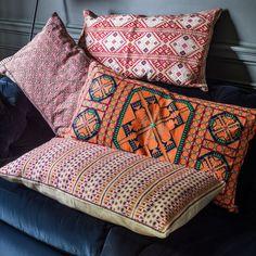 Anya Rectangular Cushions // Graham & Green Living etc Edit Living Etc, Living Room, Turkish Decor, Moroccan Cushions, Patchwork Cushion, Kilim Fabric, Loft Room, Modern Country, Floor Cushions