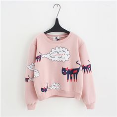 Girls winter top thick t-shirt pink white cute teenage fashion long sleeve size 12 13 14 11 years old age teen girls clothing //Price: $30.92 // #baby