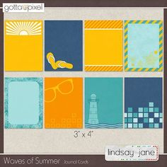 Waves of Summer Journal Cards $1.20