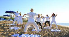 Yoga Class at Beach