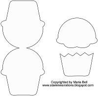 cupcake template...  I feel a dozen cupcakes coming on....in felt, of course!
