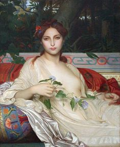 """malemalefica:  """" Alexandre Cabanel (1823-1889), was a French painter. Painter of history, genre and portraitist, his work evolved over the years towards romantic themes, such as Albaydé, inspired by a poem by Orientales by Victor Hugo.  Albaidé..."""