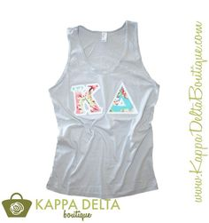 Campus Casual Chic-- Amy Butler Sewn-On Gray Tank Top! Only at KD Boutique!