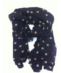 Polka dot scarf: protects your favorite teacher from cold drafts during recess duty and looks cute too !