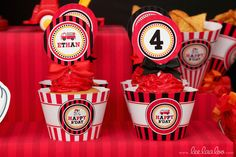 Cupcakes at a Firetruck Party #firetruck #partycupcakes