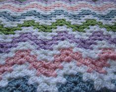 Crochet Afghan Pattern Easy Crochet Blanket by KathieSewHappy Crochet Afghans, Easy Crochet Blanket, Crochet For Beginners Blanket, Crochet Patterns For Beginners, Afghan Crochet Patterns, Crochet Baby, Chevron Crochet, Beginner Crochet, Sewing Patterns