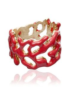 Dont usually like rings but this coral one is cute and would spice but a muted outfit.