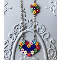 seed bead necklace patterns for beginners Beaded Necklace Patterns, Beaded Bracelets Tutorial, Seed Bead Bracelets, Jewelry Bracelets, Beaded Brooch, Beaded Earrings, Beading Tutorials, Beading Patterns, Beading Techniques